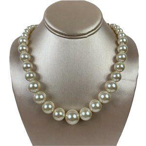 Premier Designs Large Faux Pearl Necklace